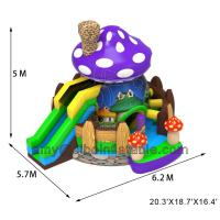 Cheap Sibo Inflatable New Products Mushroom Bouncer Castle With Slide Backyard Activity Equipment for sale