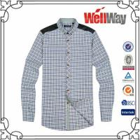 Quality red plaid button down shirt buy from 108 red for Polyester lined flannel shirts
