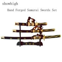 Cheap hand made japanese samurai swords set SS201 for sale
