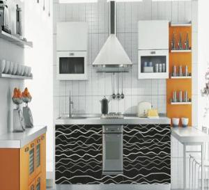 Cheap U Shape MDF Kitchen Cabinet for sale