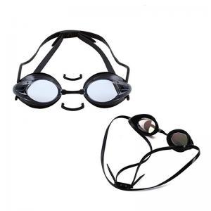 Triathlon Swimming Goggles White Color , Prescription Water Goggles No Leaking