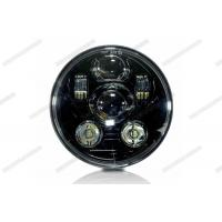 Cheap Black / Silver Motorcycle LED Headlight 5.75inch 45W LED Turn Signals For Harley for sale