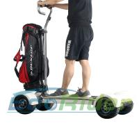 Cheap EcoRider Four Wheel Electric Golf Scooter Skateboard Cart with Ajustable Handle for sale