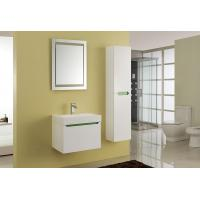 15mm PVC Board Modern Bathroom Sink Vanity With Resin / Glue Basin Aluminium Handles Manufactures