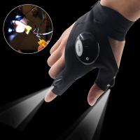 Cheap AU LED Light Night Fishing Gloves Outdoor Rescue Emergency Repairing Work Gloves for sale
