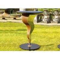 Cheap Beautiful Bird Drinking Bowl Contemporary Outdoor Metal Sculpture Customized Size for sale