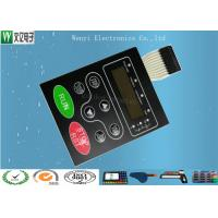 Cheap Multi LED Embossing Membrane Switch 10 Pin Female Connector 1.0mm Pitch for sale