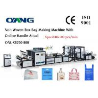 Cheap High Efficiency Automatic Non Woven Box Bag Making Machine for sale