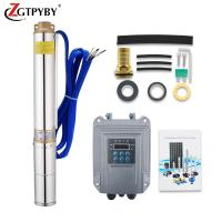 Cheap 4inch 48v dc solar water pump system solar well pump solar pump kit with mppt controller for sale