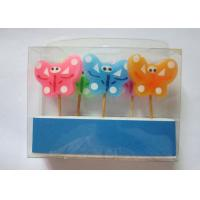 Newest  Butterfly Design Colourful Toothpick Birthday Decorative Candles Manufactures