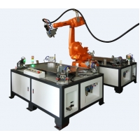 Cheap 380V 1070nm Robot Laser Welding Machine System Double Position for sale