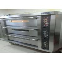 Cheap Stainless Steel Door Electric Baking Oven 3 Deck 15 Trays Stone Deck Oven for sale