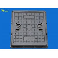 China Fiber Glass Road Sewer Drain Grating Square Manhole Cover Frame Ductile Well Lid on sale