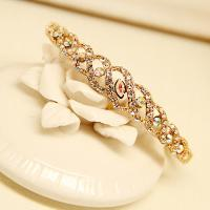 Cheap Water Wave Printing Bracelet for Women OL Style Corn Imitation Diamond Bracelet China Fashion Jewelry Supplier Bracelet for sale