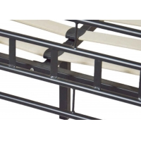 Cheap Color Black Large Wooden Slatted 700 Pounds Durable Metal Bed Frame for sale
