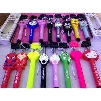 China Best selling selfie stick with aux cable,3d cartoon selfie stick monopod on sale