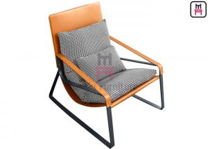 Cheap Tanned Leather 42cm Height 0.7cbm Single Sofa Chair Headrest for sale