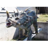 Mechanical Playground Animatronic Life Size Dinosaur Decoration Equipment Model for sale