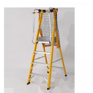 Cheap Household Fiberglass Platform Ladder / Fiberglass Multi Ladder With Handrail for sale