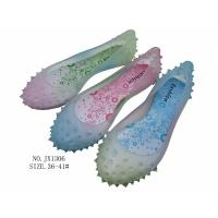 Fashion colourful pvc slippers crystal pvc jelly footwear for women