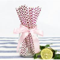 Cheap Disposable Colored Paper Straws , Solid Color Paper Straws 100% Eco - Friendly for sale