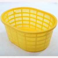 Cheap HDPE Plastic oval-shaped Basket / Square plastic basket /Plastic Shopping Basket for sale