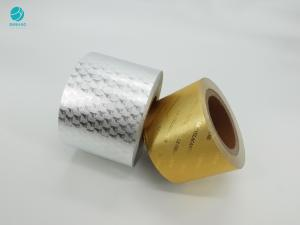 Cheap 6.5Mic Gold Silver Embossing Logo Aluminium Foil Paper For Cigarette Package for sale