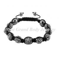 Cheap Female Crystal Beads Shamballa Bracelets With Hematite CZ Stone For Party for sale