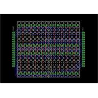 Cheap LED Stripboard Circuit Board Layout , PCB Board Layout For 16  X 16 Dot Matrix Display for sale