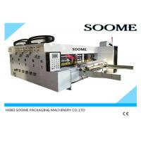 Cheap Electric Flexo Printer Slotter Machine Rotary Die Cutting Machine For Corrugated for sale