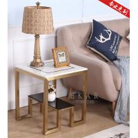 Cheap Latest Design Furniture Mental Leg Square Marble Side Table for sale