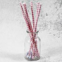 Cheap 6mm small caliber pearl milk pink Horizontal stripes color Biodegradable Paper Drinking Straws for sale