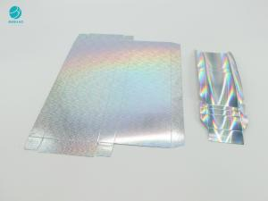 Cheap Holographic Silvery Surface Paper Cardboard For Cigarette Tobacco Case Package for sale