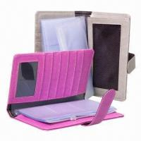 Cheap PVC Leather Card Holder, Customized Colors are Accepted, Measuring 21 x 12 x 2cm for sale