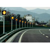 Sychronized Solar Blinker Light LED Traffic Signs 12 Hours Flashing