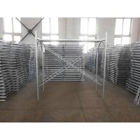 Cheap Painted Galvanised Scaffolding , Ladder Frame Scaffolding With Cross Brace for sale