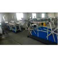 Cheap PA Electric Threading Plastic Pipe Machine , Pvc Pipe Extrusion Line Long Life for sale