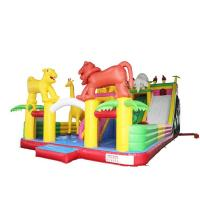 Cheap Elephant Style Kids Inflatable Slide Attractive Vivid Hand Painting High Airtight for sale