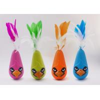 Cheap Bird Shaped Design Wobble Cat Toy Non Toxic Material With Natural Feathers for sale