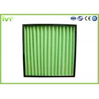Cheap G4 Pleated Primary Air Filter 3400 M³/H Max Air Flow Volume With ABS Plastic Frame for sale