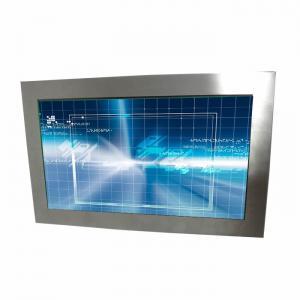 21.5 Inch Rugged Touch Screen Monitor Waterproof VGA / HDMI Inputs