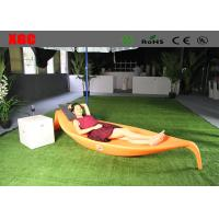 Cheap Plastic Swimming Pool Furniture / Modern Outdoor Chaise Lounge 255*84*42 Cm for sale