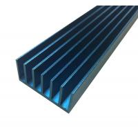 Cheap LED Extruded Aluminum Heat Sink Profile Blue Anodized Square Shape for sale