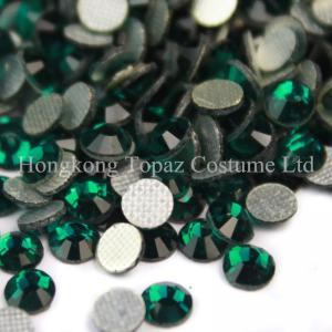 Cheap SS20 emerald DMC hot fix rhinestones MC Iron-on rhinestone machine cut stones for sale