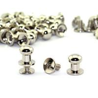 Cheap Solid Brass Button Studs Rivets Screwback Screw Back Spots Round Head Button Stud Slotted Screws Nail Rivet For Leather for sale