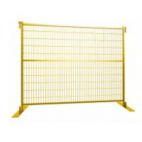 Cheap Yellow Color Powder Coated 6foot x 9.5foot weld mesh construction fence panels for sale