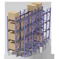 Cheap Steel Q235B Radio Shuttle Racking System Electrostantic Powder Coated Finish for sale