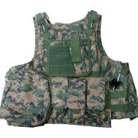 Cheap Protective Military Combat Vest With Three / Four Pouches And Chest Protector for sale