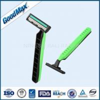 Cheap Green / Black Twin Blade Disposable Razor Anti - Drag Blades For Face Body Underarm for sale