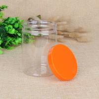 Buy cheap PET Food Airtight Stash Clear Plastic Jar With Screw Cap 420ml 550ml from wholesalers